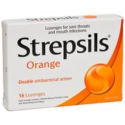 Strepsils Lozenge Orange 16 pack