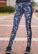 Printed Splicing Stretchy Sport Leggings