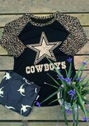 COWBOYS Printed Leopard Splicing T-Shirt