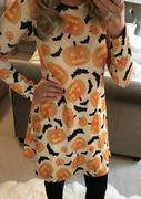 Halloween Pumpkin Printed Mini Dress