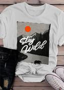 Stay Wild Sunrise O-Neck T-Shirt Tee