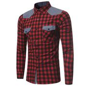 Mens Patchwork Checked Designer Shirts