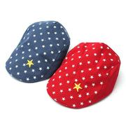 New Baby Boys Girl Cotton Stars Beret Cap Casual Flat Peaked Baseball Hat