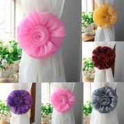 1 Pair Rose Flower Window Curtain Tieback Clip-on Fastener For Home Decor