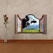 3D Dairy Cow Wall Decals
