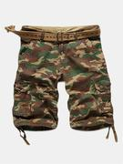 Camo Multi-pocket Cargo Pants Mens Cotton Outdoor Casual Camouflage Shorts