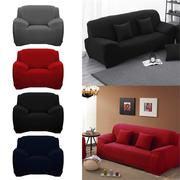 L Shape Stretch Elastic Fabric Sofa Cover Pet Dog Sectional Corner Solid Color Couch Cover