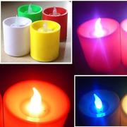 LED Flickering Electronic Colorful Voice Control Candles Light Holiday Decoration