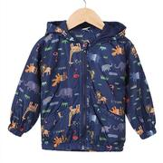 Hooded Dinosaur Printed Baby Boys Jackets