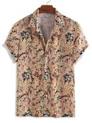 Floral Allover Print Short Sleeve Button Shirt